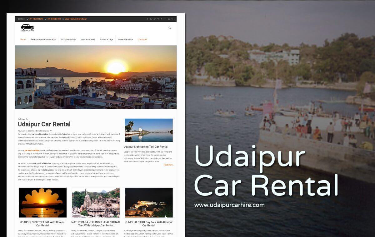 car rental company website design