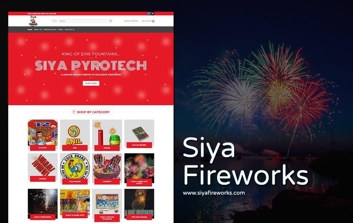 fireworks company website design