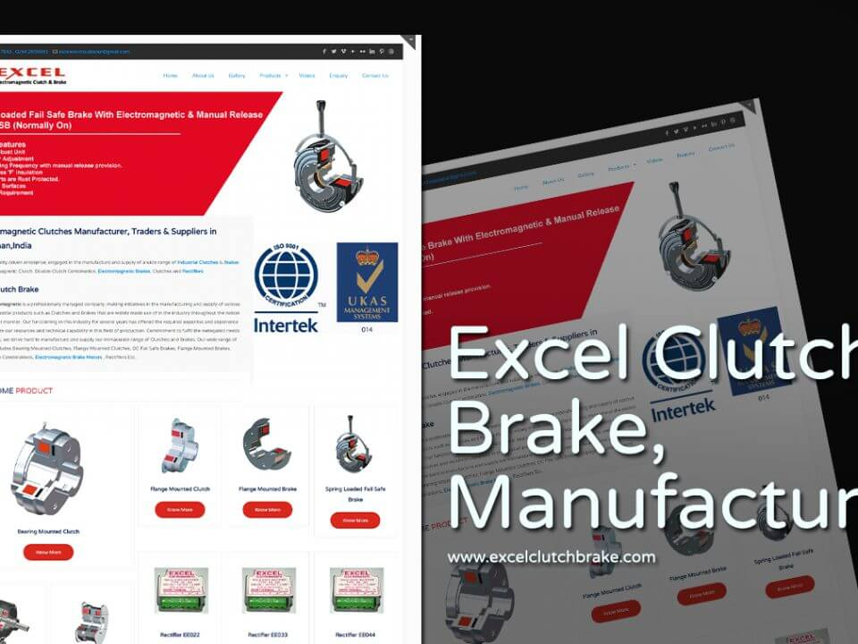 industrial product manufacturer company web design