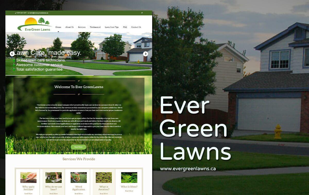 lawn care company web design