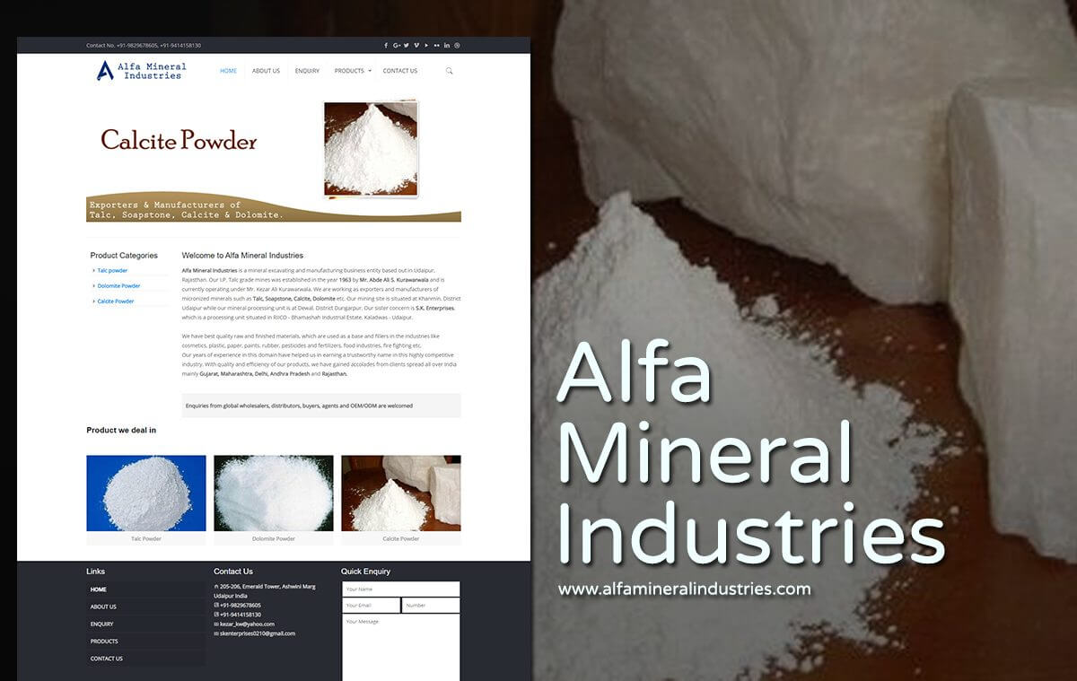 mineral industries web design