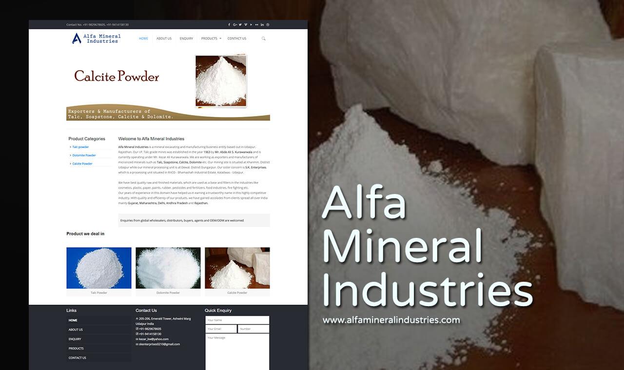 mineral industries web design