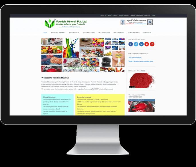 minerals company web design