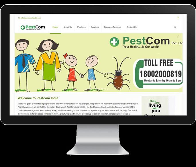 pestcom product manufacturer company web design
