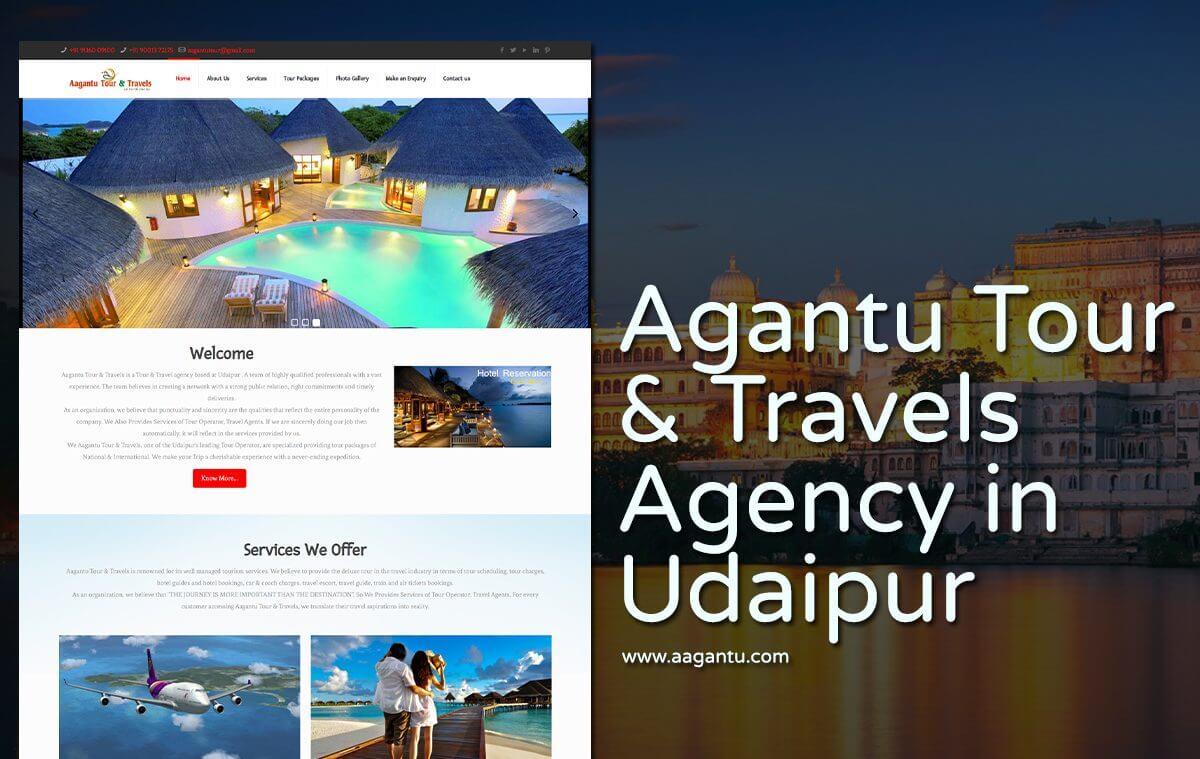 tour travel company website design