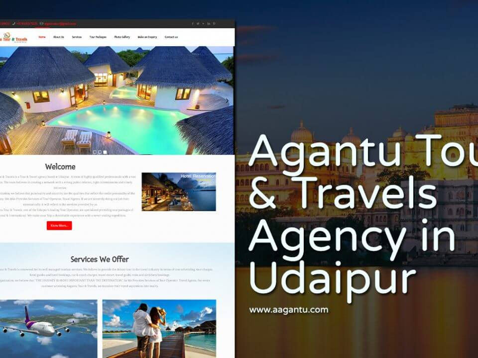 tour travel company website design