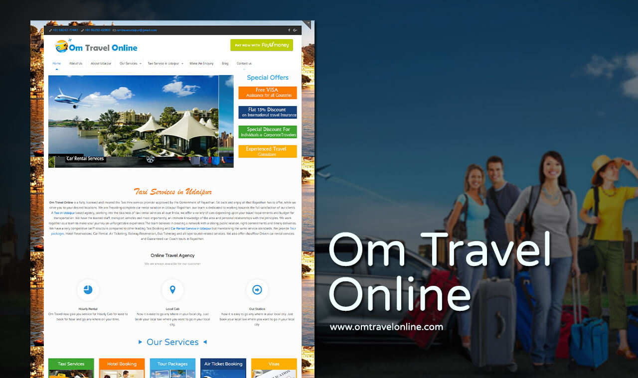 travel agency website design