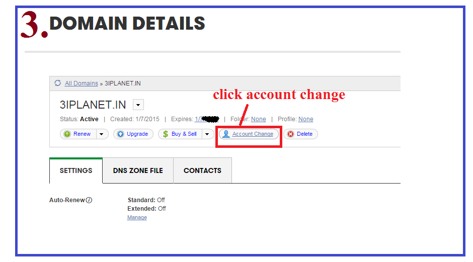 transfer domain between two godaddy accounts