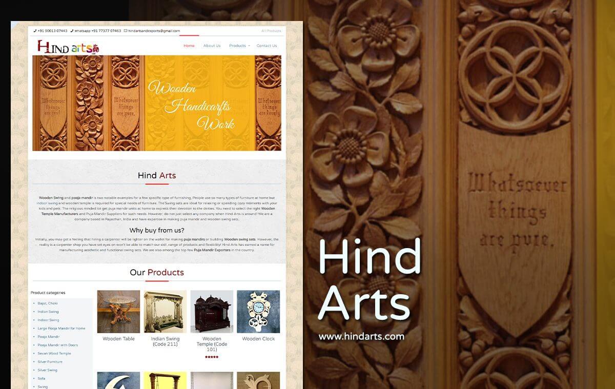 art and craft web design