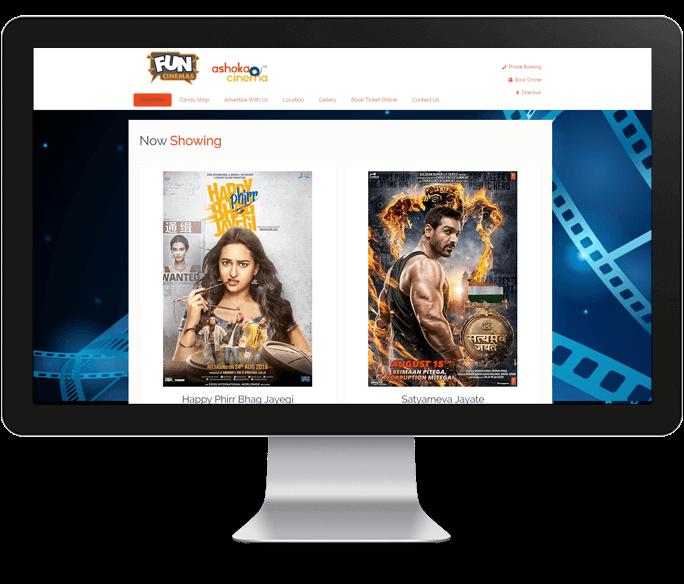 cinema website design