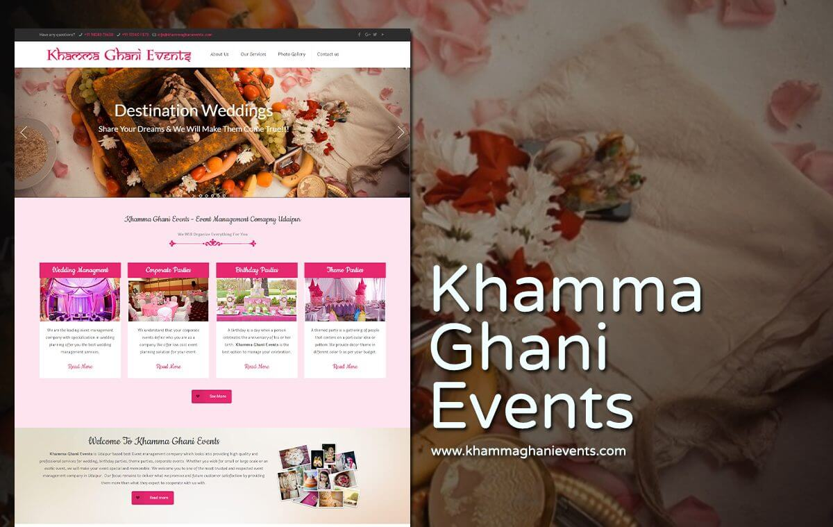 event management company web design