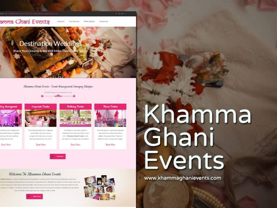 event management company web design