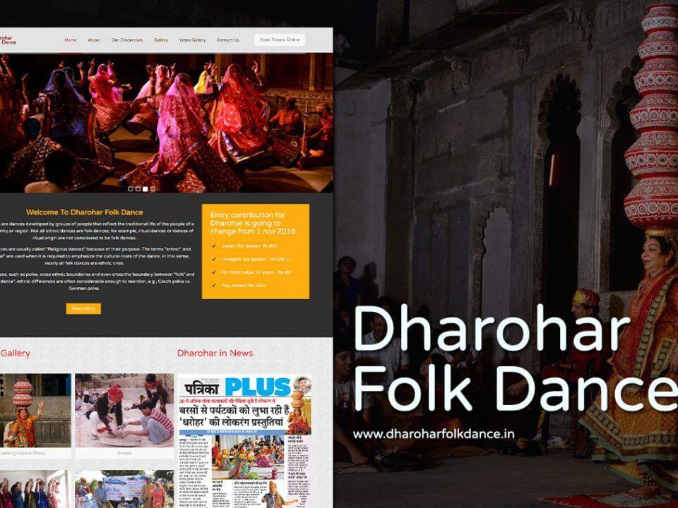 folk dance show website design
