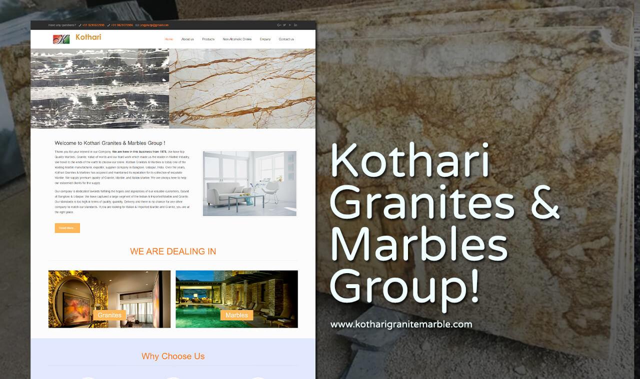 granite marble website design