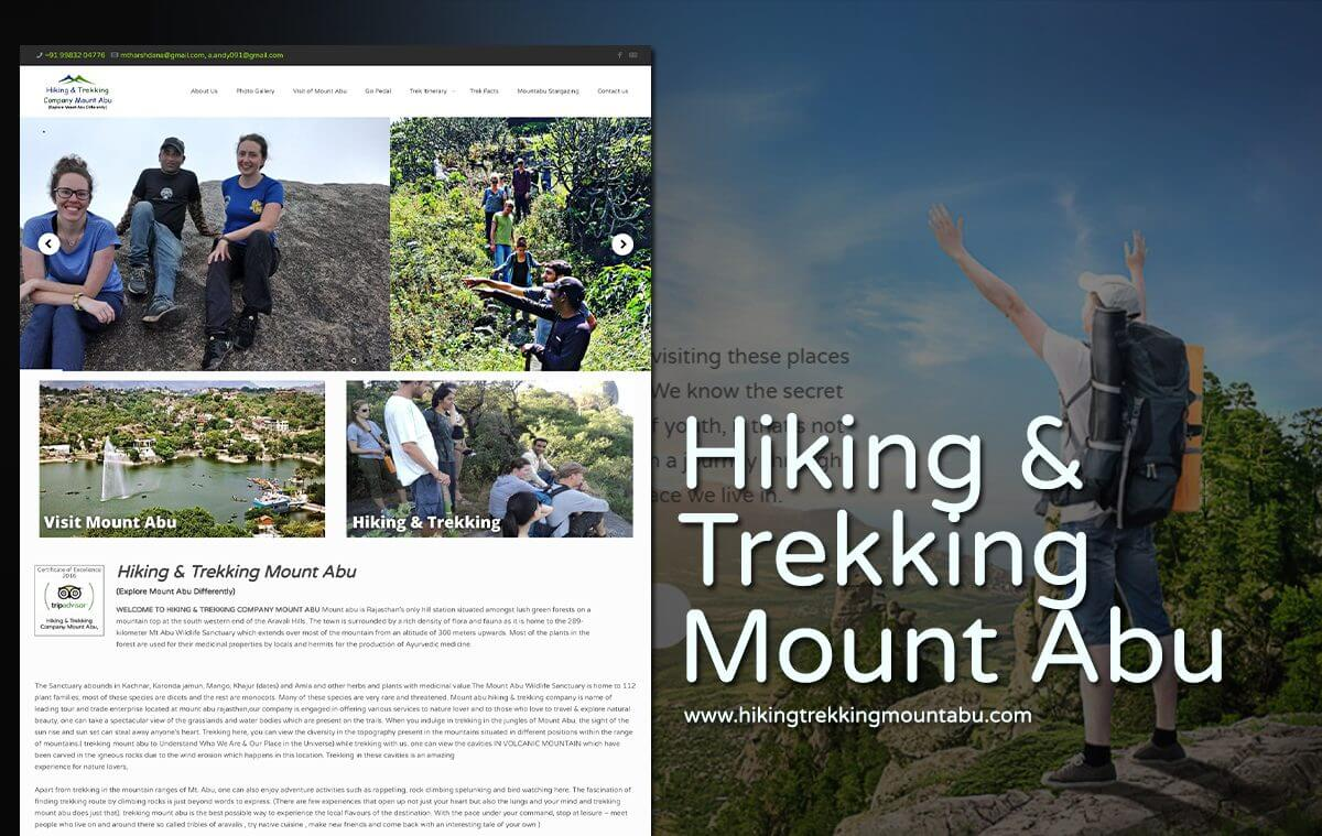 hiking trekking company web design