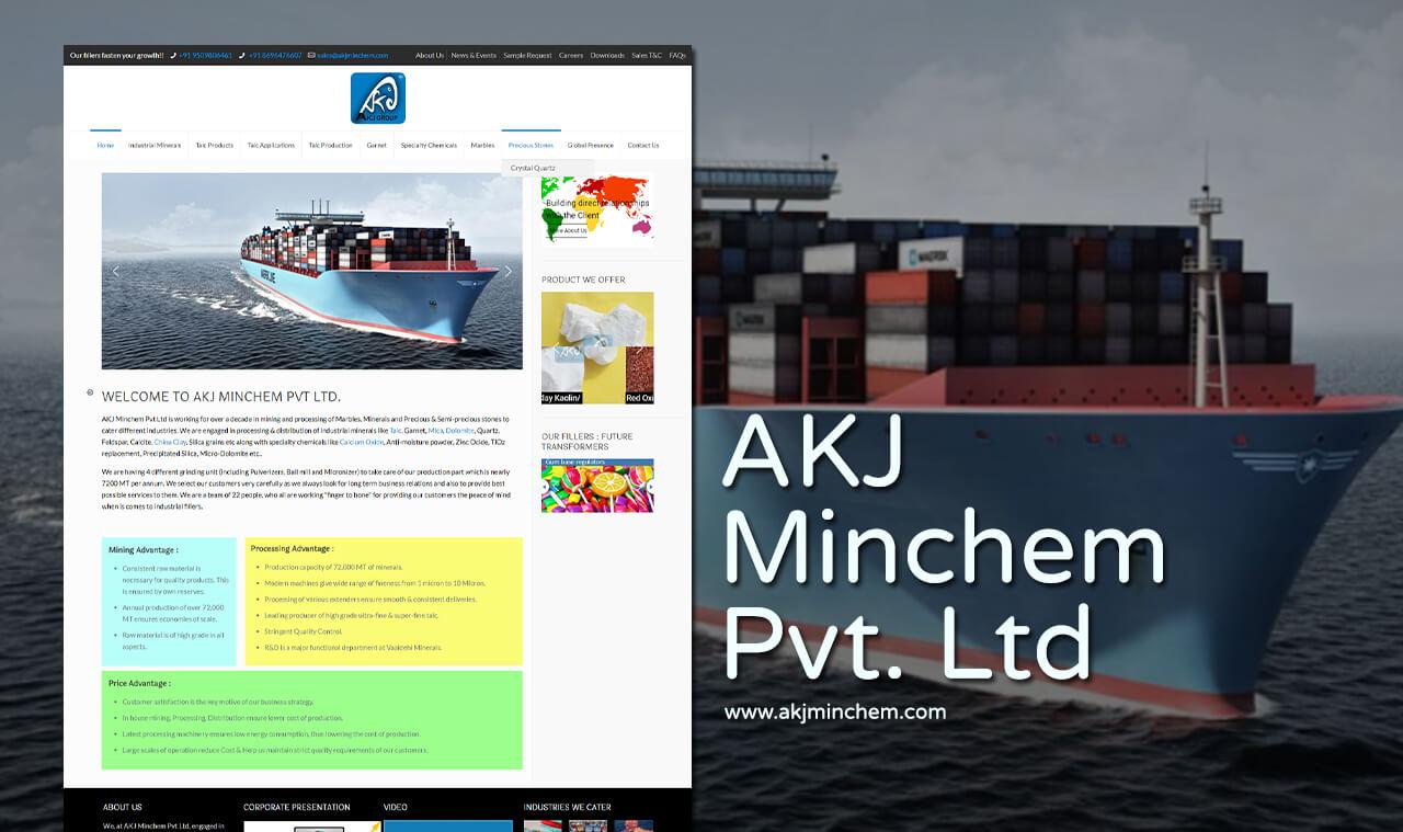 mineral company website designer