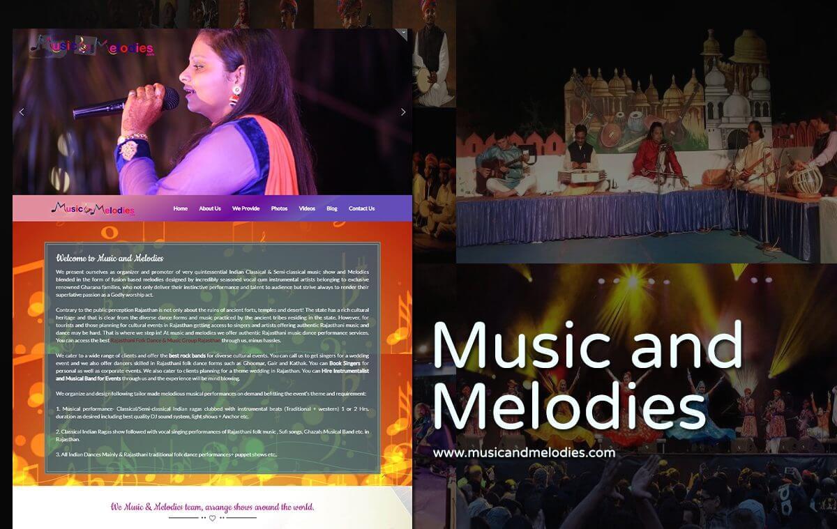 music artist anchor website design