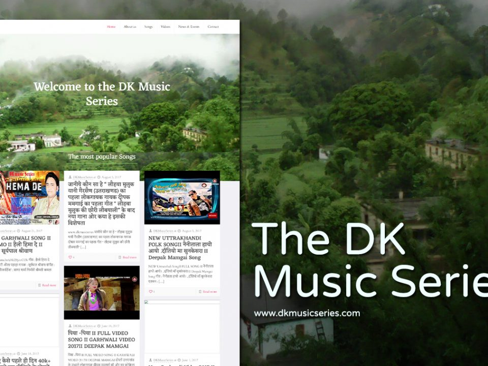music artist website design