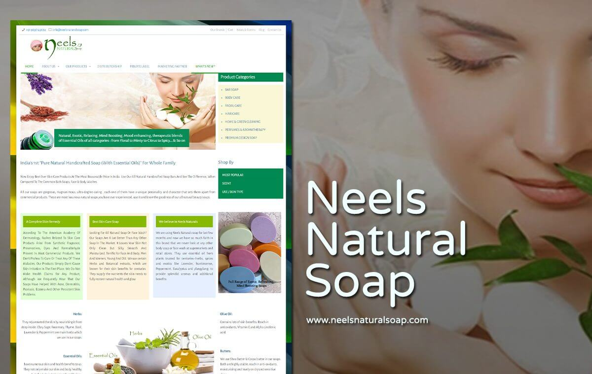 natural soap eCommerce web design