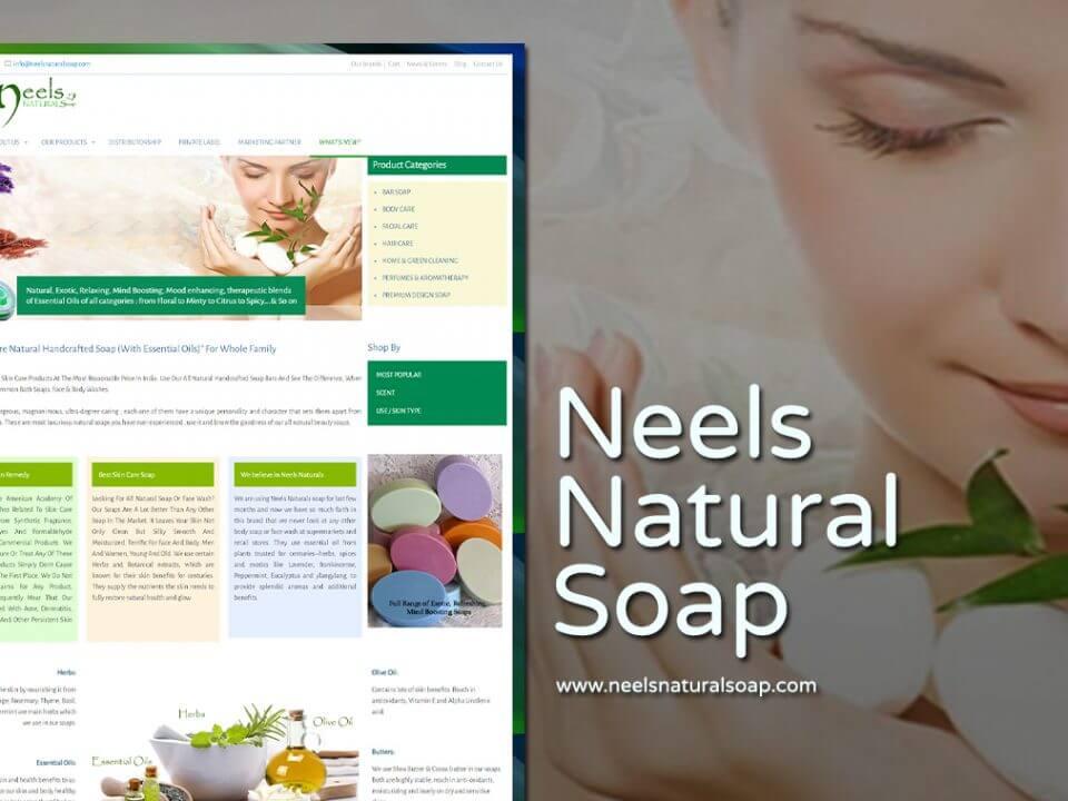 natural soap eCommerce web design