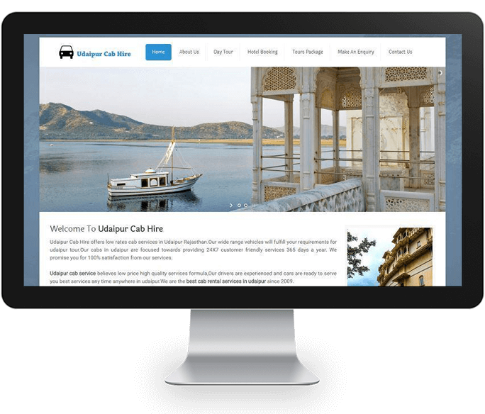 online cab booking website design