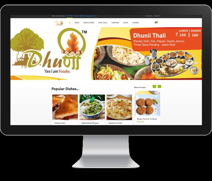 online food order restaurant web design