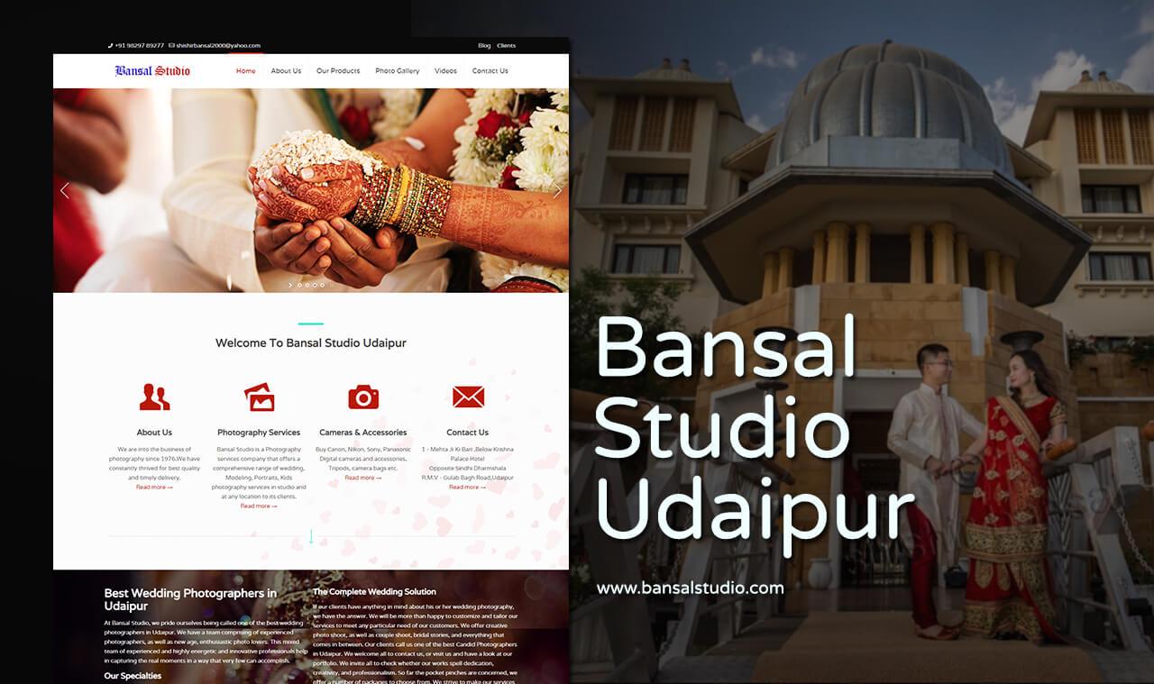 photo studio website design