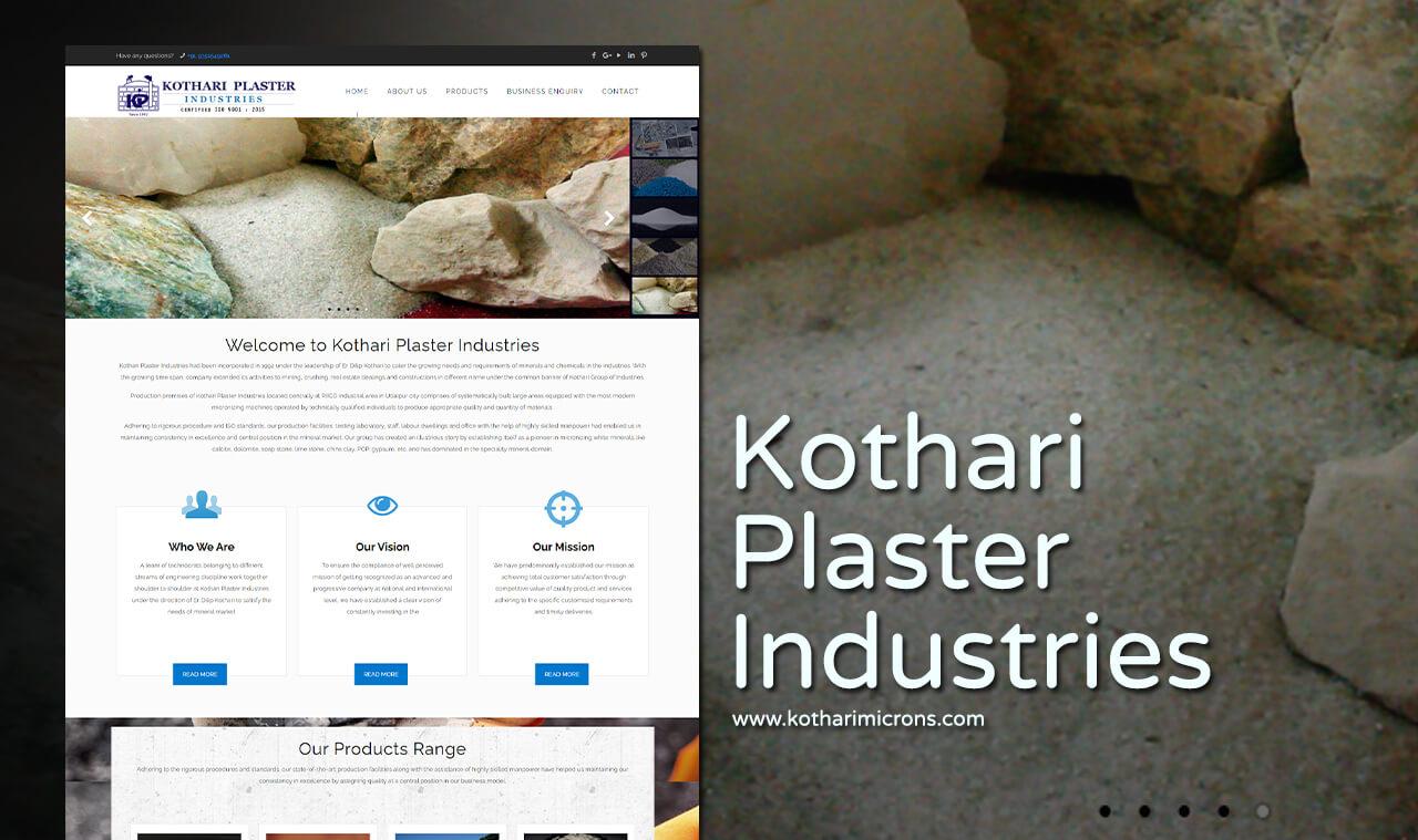 plaster industries website design