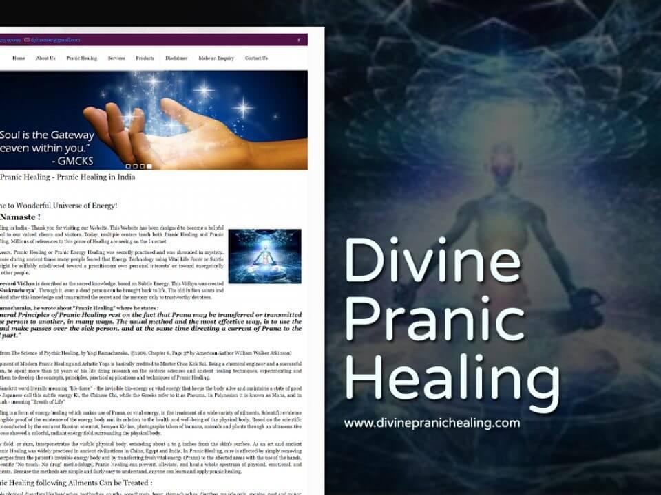 pranic healing yoga website design