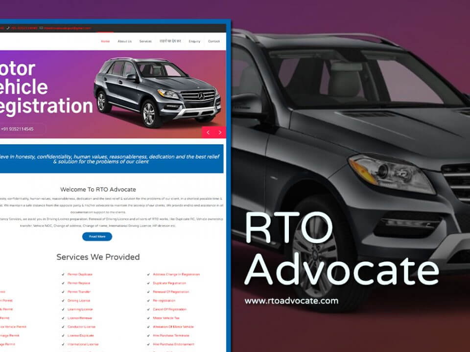 rto advocate website design