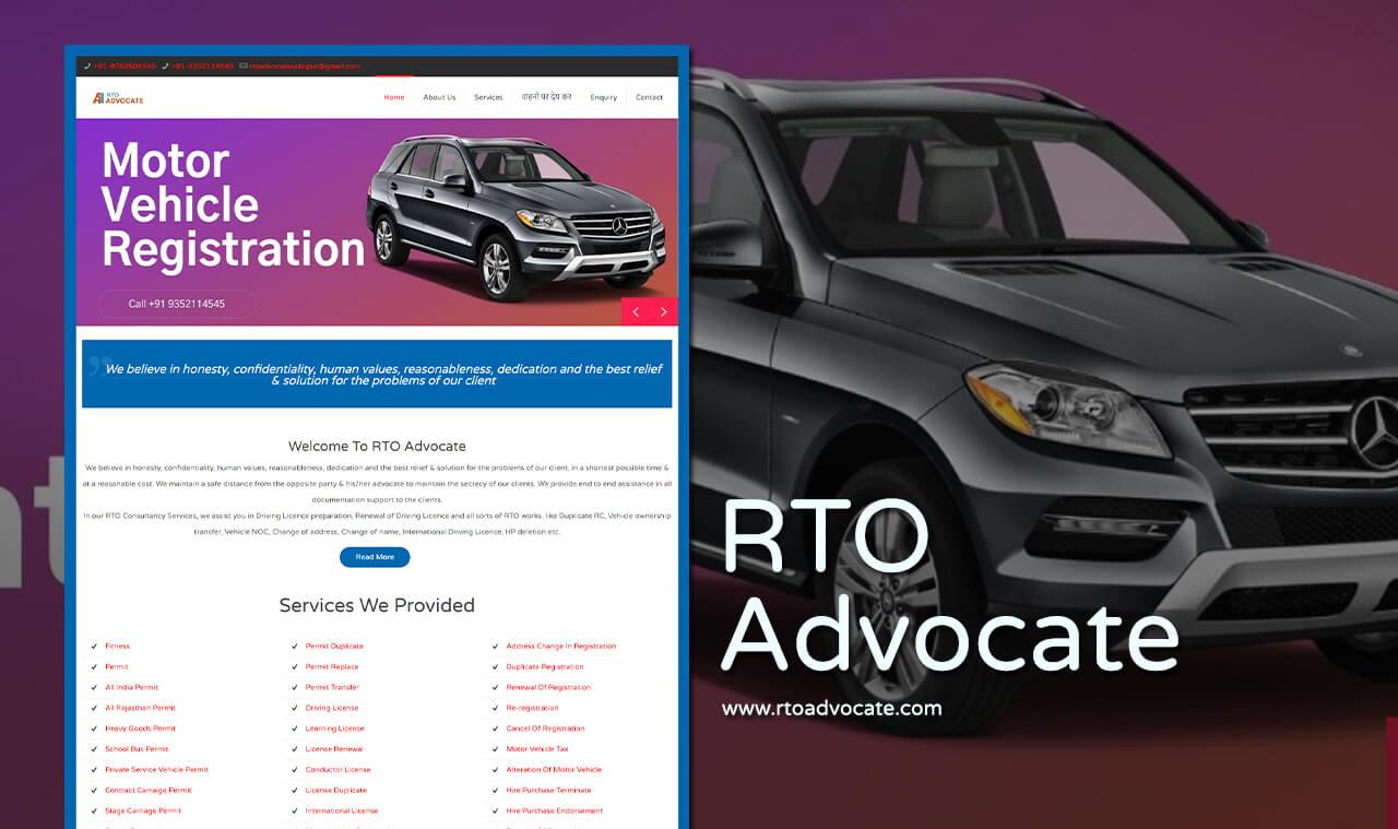 rto advocate website design