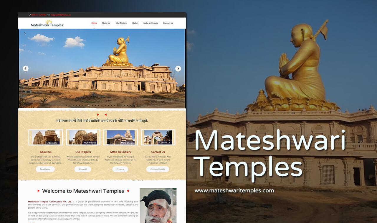 temple construction company web design