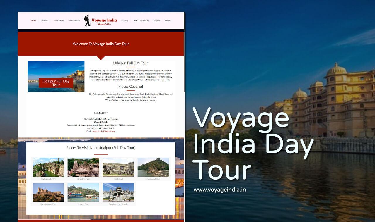 travel company website design