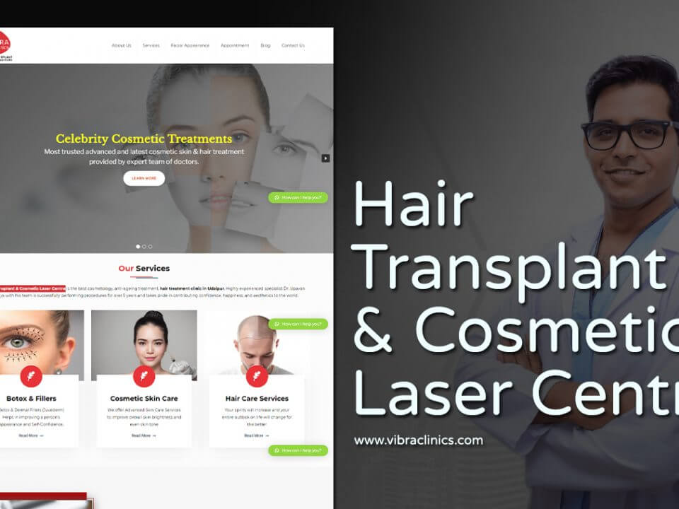 hair transplant clinic web design