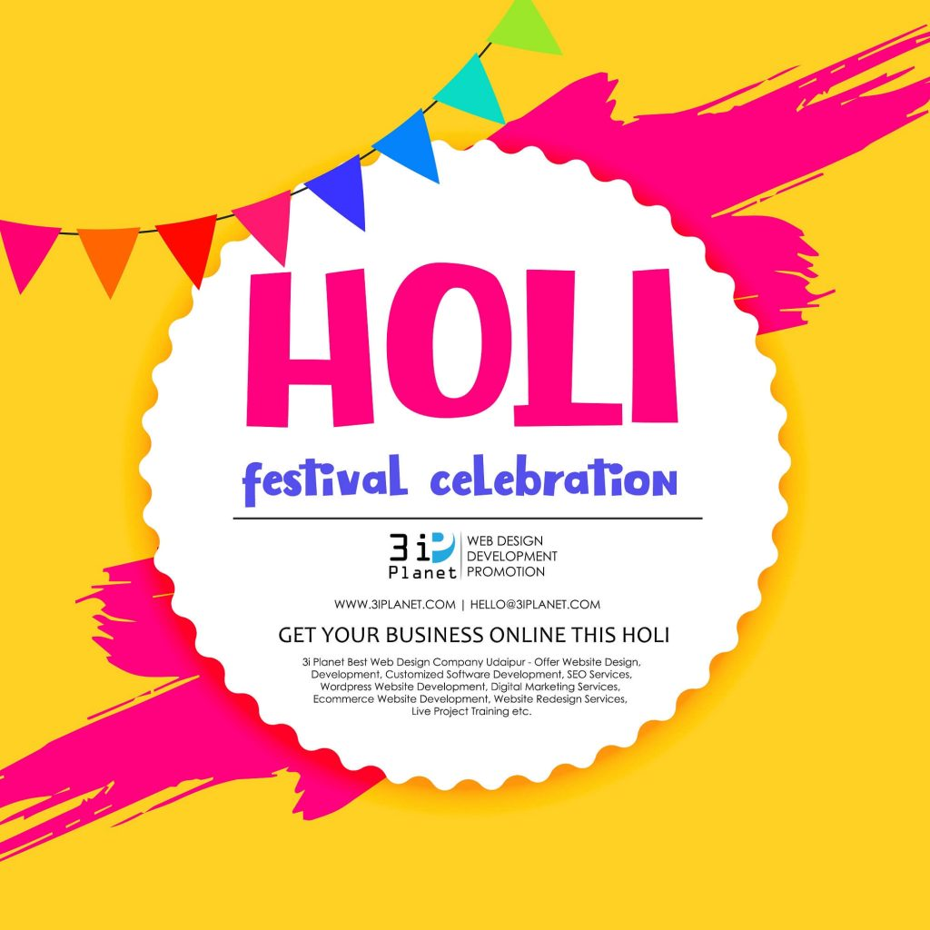 happy holi celebration greeting design background