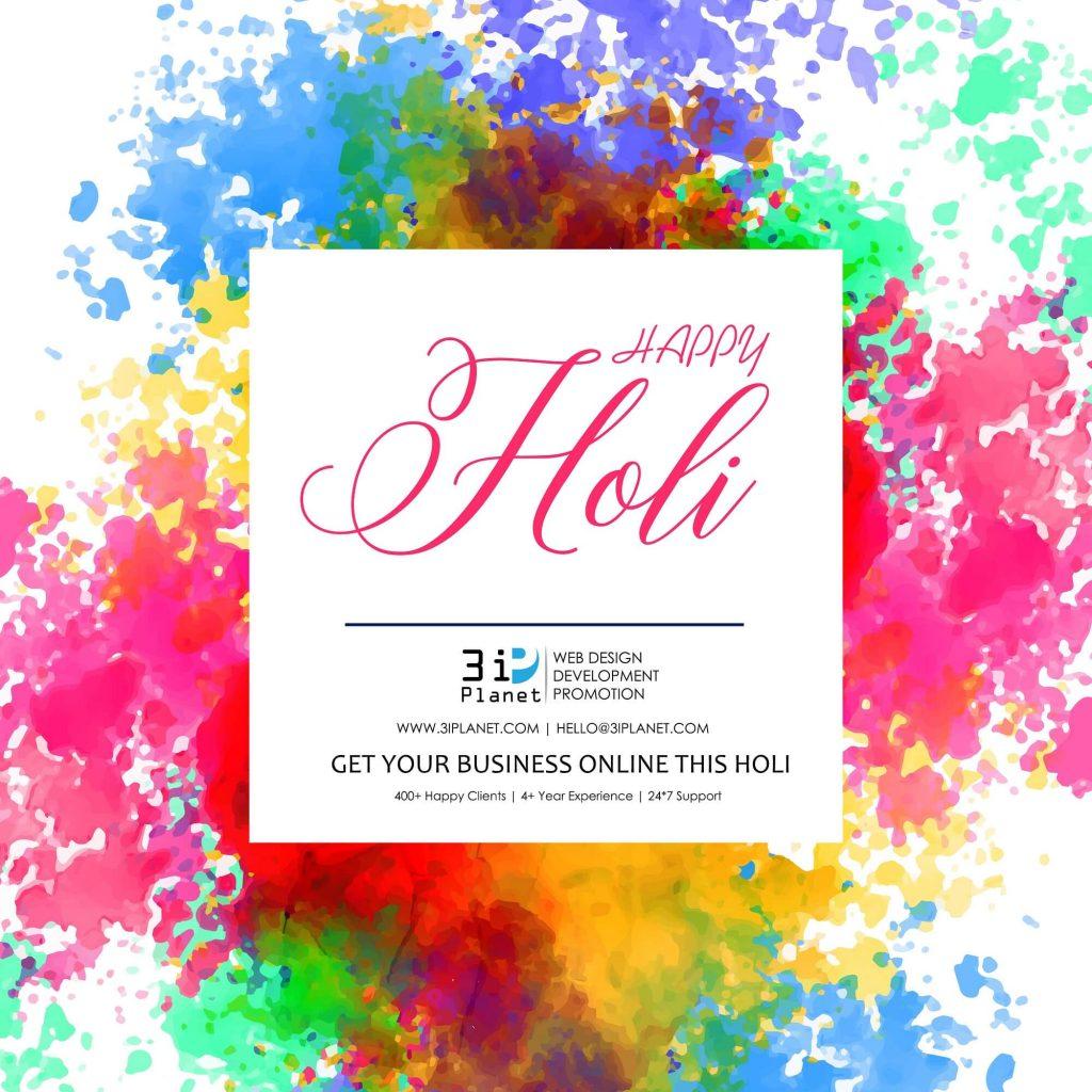 happy holi sale banner design background