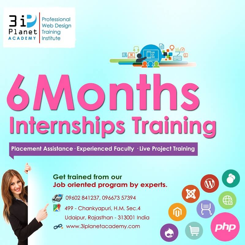 6 Months Internships Training For MCA And B.Tech In Udaipur