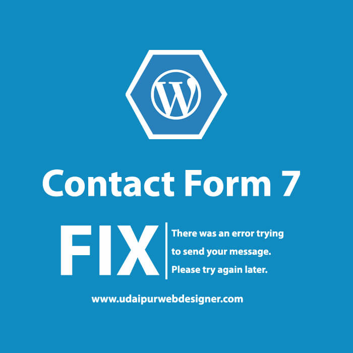 contact form 7 there was an error sending your message