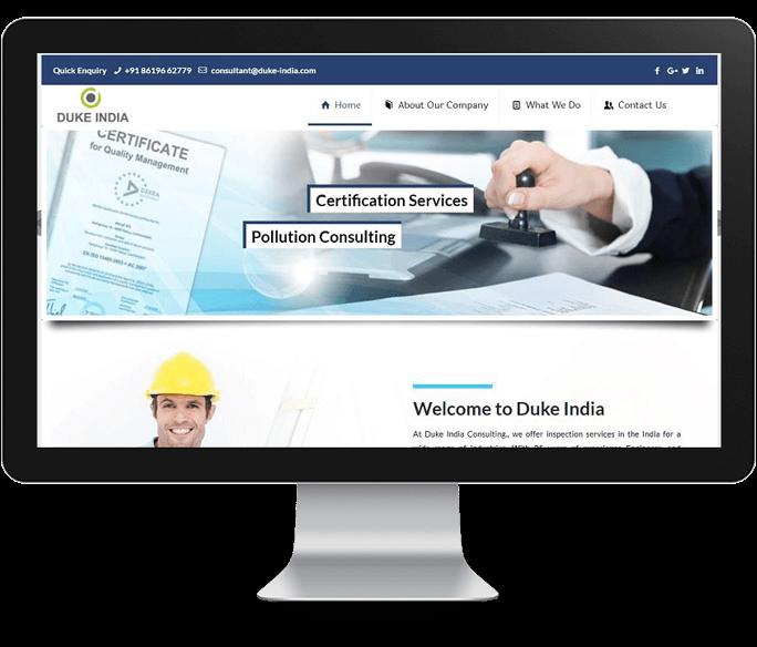 industrial company website design