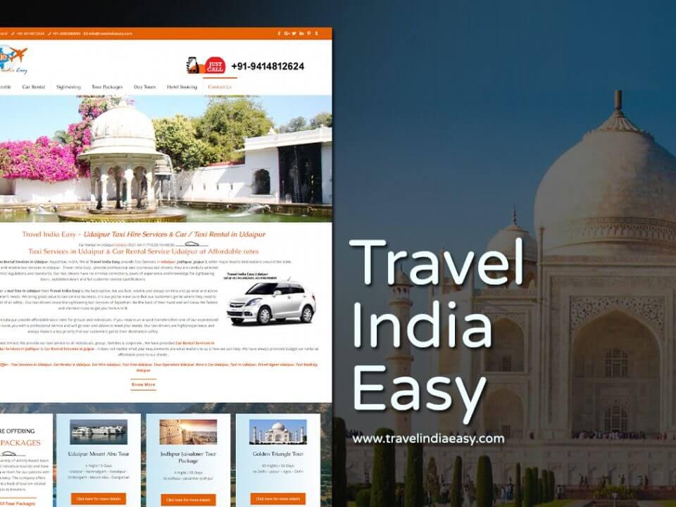tour and travel company website design