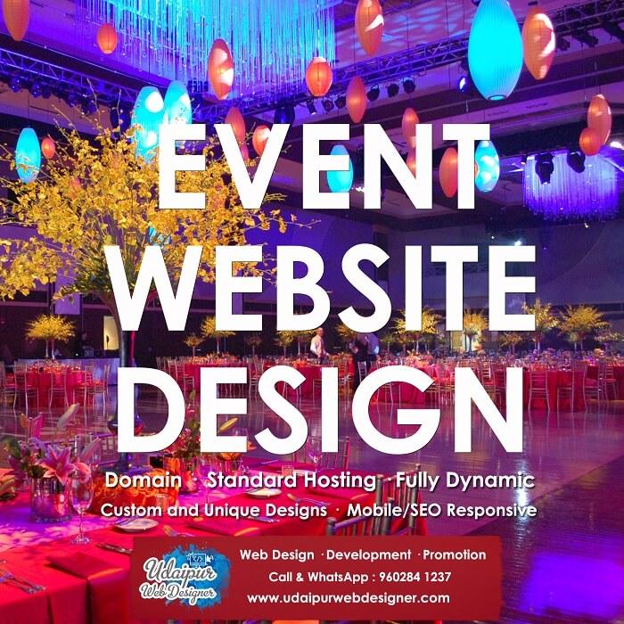 Event Planner Web Design