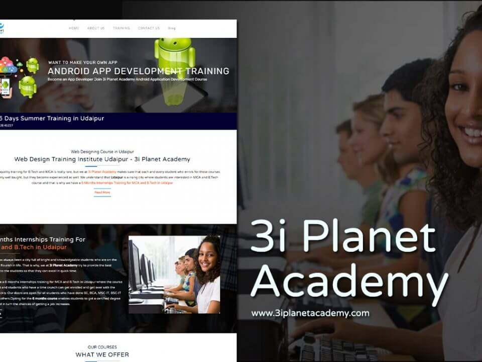 academy website design