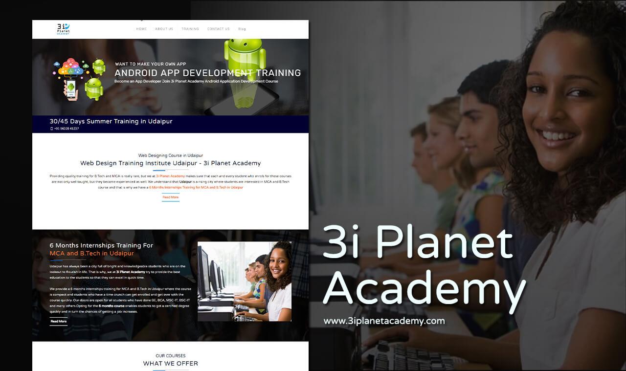 academy website design