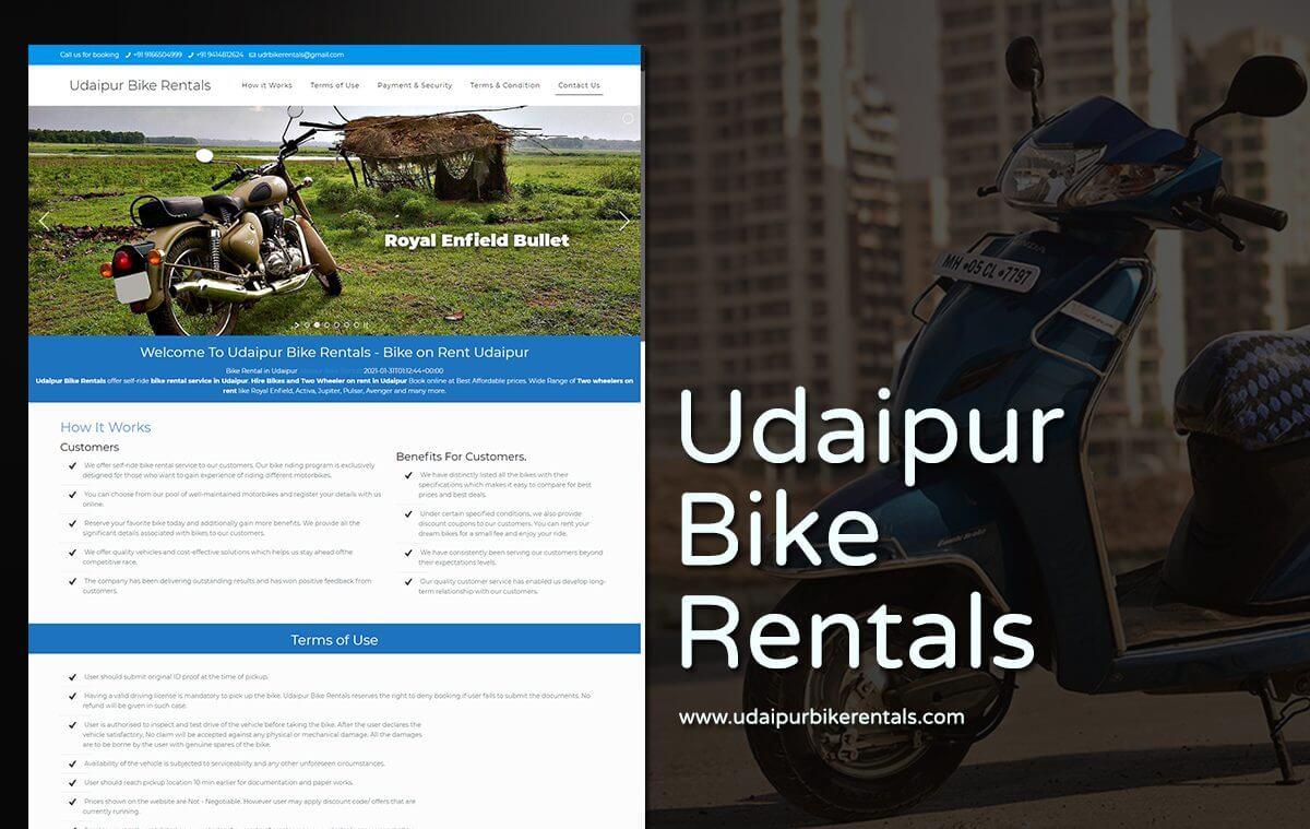 bike rental website design
