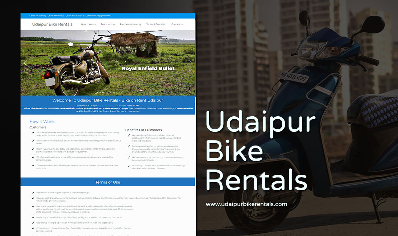 bike rental website design