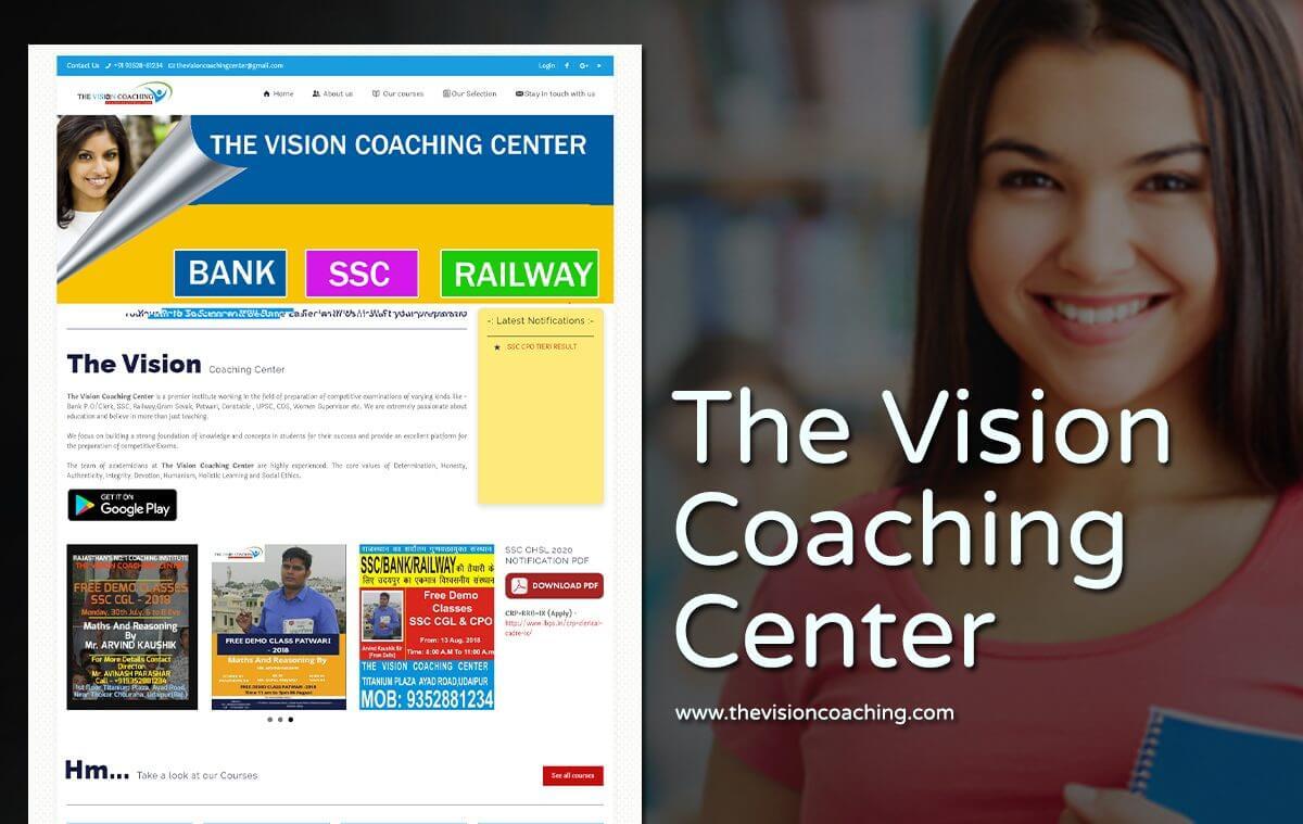 coaching institute website designer