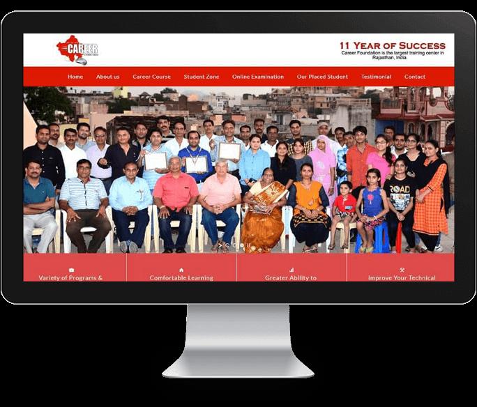 computer institute website design
