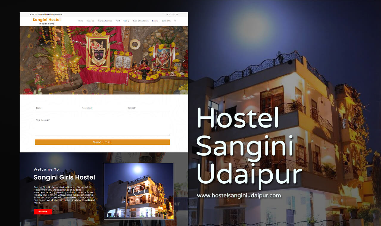 girls hostel website design