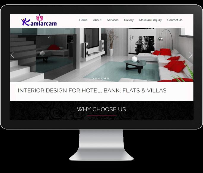 interior decoration website design
