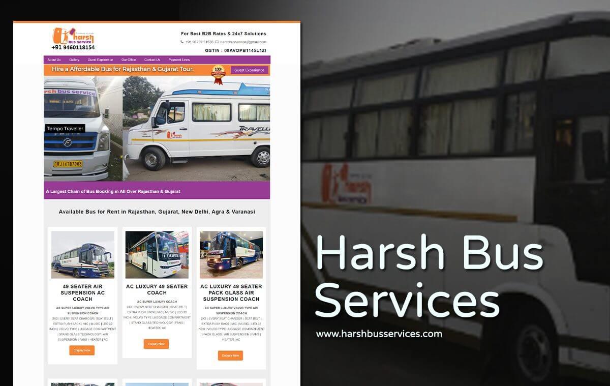 luxury bus car services website design
